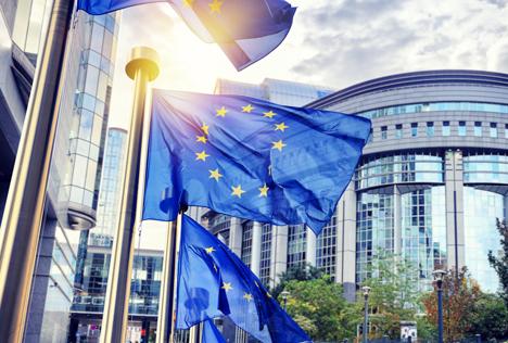Bildquelle: Shutterstock.com  European Parliament EU Fahnen
