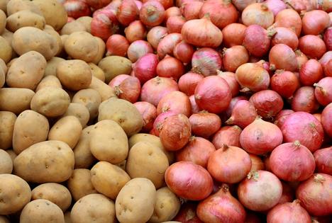 Bildquelle: Shutterstock.com Kartoffeln Zwiebeln