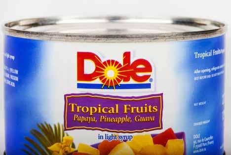 Quelle: chrisdorney / Shutterstock.com Dole Dose Blick Tropical Obst  Dole