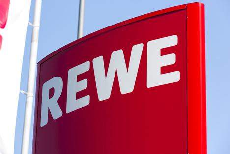 Quelle: R. Classen / Shutterstock.com  Rewe Markt Logo AACHEN, GERMANY
