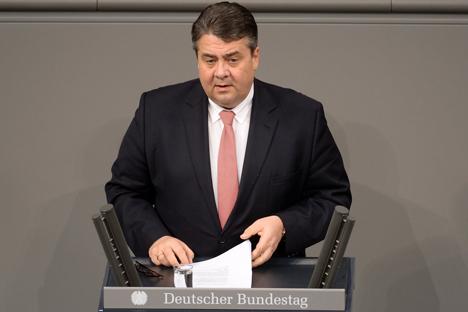 Bundesminister Sigmar Gabriel SPD Foto © Deutscher Bundestag / Achim Melde