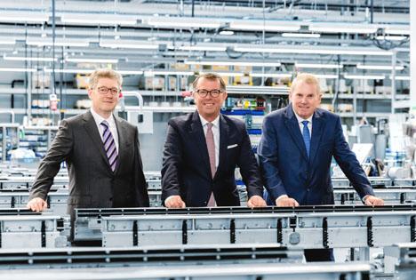 Von links nach rechts: Christian Traumann, Guido Spix und Hans-Joachim Boekstegers. Foto © Multivac
