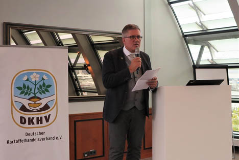 DKHV-Präsident Thomas Herkenrath eröffnet die 68. Internationale Kartoffel-Herbstbörse. Foto: UNIKA