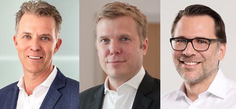 Patrick Steppe, Hilmar Hübers, Christoph Eltze. Foto © Rewe Group