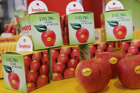 Eveline Apfel Verpackung Foto Evelina Deutschland