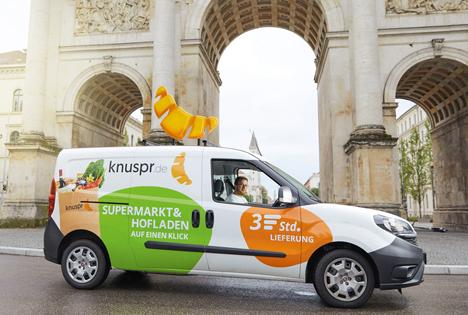 Beta-Phase des Online-Supermarkts Knuspr in München erfolgreich gestartet