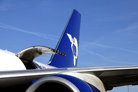 Panalpina Tail Boeing 747-8 Freighter Spirit of Panalpina Foto © Olivier Minaire.jpg Foto © Panalpina