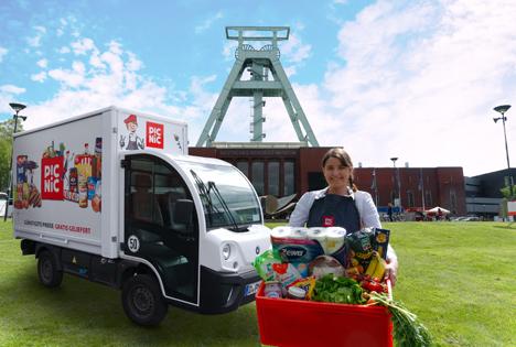 """Online-Supermarkt Picnic startet mit Gratislieferung in wenigen Wochen in Bochum.  Foto © """"obs/Picnic"""""""