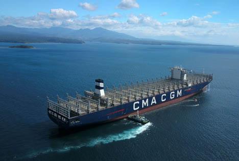 Das größte Containerschiff unter französischer Flagge: CMA CGM Antoine de Saint Exupery. Foto CMA CGM