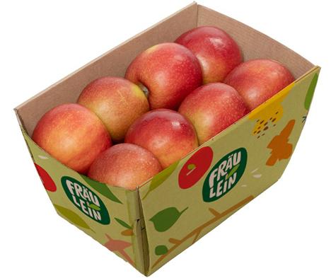 """Darf ich vorstellen? Fräulein, eine neue Apfelgeneration aus Deutschland. Foto © """"obs/DOSK"""""""