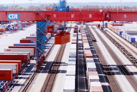 HHLA baut Containerbahnhof Altenwerder aus