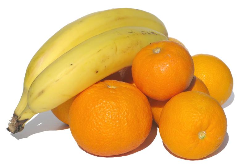 Orangen Bananen