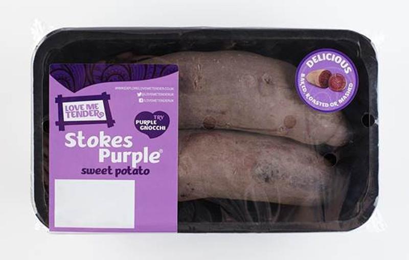 """Foto: Lila Kartoffeln. Marke """"Waitrose"""""""