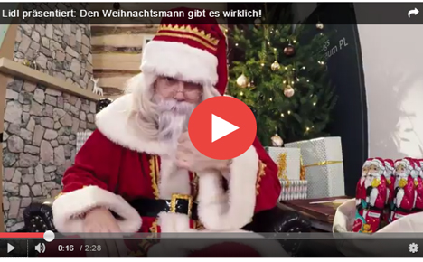 auch lidl pr sentiert einen youtube weihnachtsspot. Black Bedroom Furniture Sets. Home Design Ideas