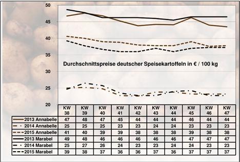 BLE-Marktbericht KW 47/15 Kartoffeln