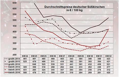 BLE-Marktbericht KW 32 / 16 Kirschen