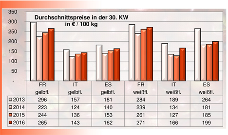 BLE-Marktbericht KW 30 / 16 Grafik Nektarinen