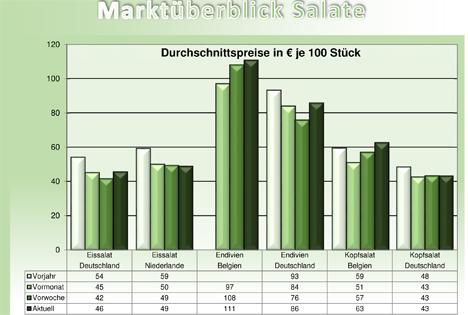 BLE Grafik Salate BLE-Marktbericht KW 29 / 17
