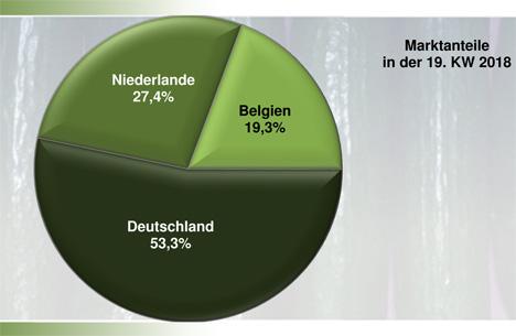 Grafik Gurken BLE-Marktbericht KW 19 / 18
