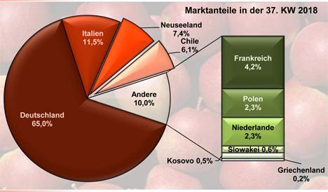 Grafik BLE-Marktbericht KW  37 / 18