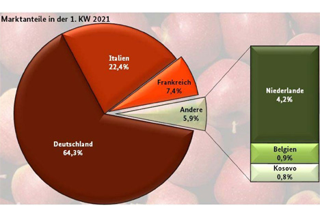 Grafik Apfel BLE-Marktbericht KW 01 / 21