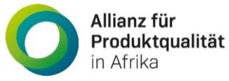 Logo Allianz für Produktqualität in Afrika. Foto © DFHV
