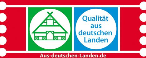 """Siegel """"Qualität aus deutschen Landen"""". Quelle: DLG"""