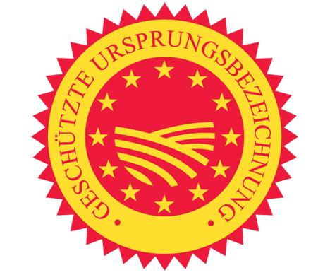 Siegel GU europäische geografische Angaben