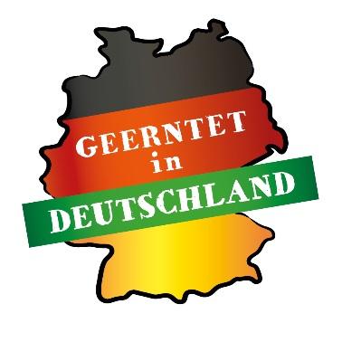 """Neues Verkaufslogo """"Geerntet in Deutschland"""" der BVEO. © BVEO"""