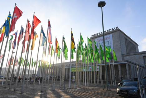 Fahnen  Die Biobranche präsentiert sich zur Grünen Woche 2018