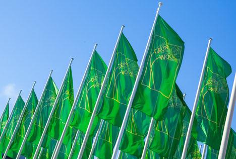 Grüne Woche Berlin Fahnen