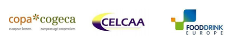 Logo Copa & Cogeca, CELCAA, FoodDrinkEurope