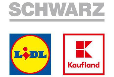 Logo Lidl und Kaufland Schwarz Gruppe