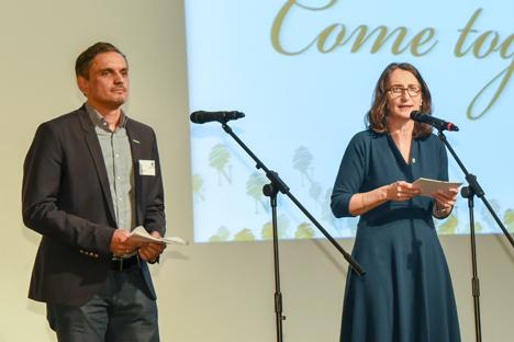 Ansprache Elke Röder und Georg Kaiser. Foto © BNN