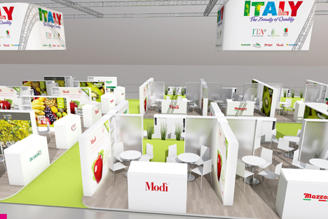 Italien mit seinem bisher größten Stand auf Fruit Logistica 2016