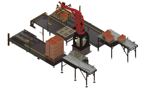 Mehrzeiliger Palettier-Roboter