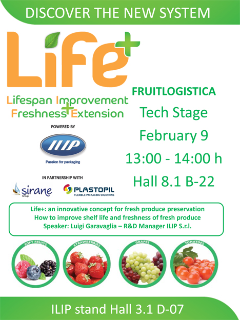 ILIP präsentiert auf der Fruit Logistica die Revolution Life+