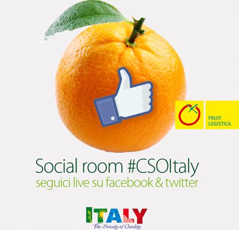 CSO eröffnet Social Room an Italy-Stand auf Fruit Logistica