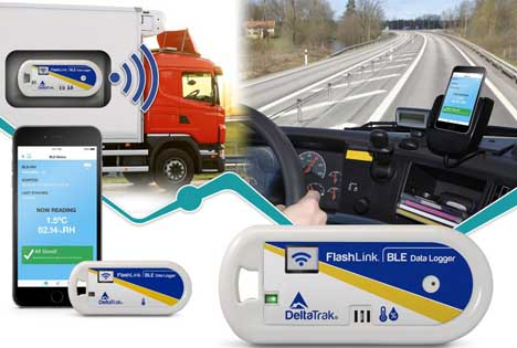 Lieferrouten-Lösung mit BLE. Foto DeltaTrak Inc.