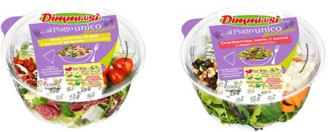 Wellness-Salate in der Schale.