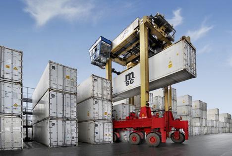 MSC Transport und Logistik von Kühlcontainern. Foto © Messe Berlin
