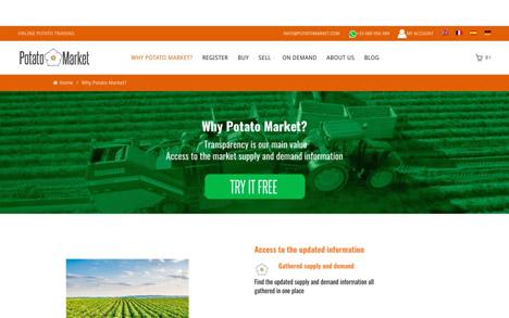 Potato Market S.L Online-Plattform für Kartoffeln. Foto © Messe Berlin