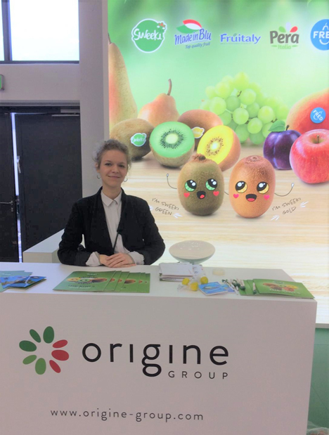 Foto © Origine Group, Alessandro Zampagna; Stand auf der Fruit Logistica 2020