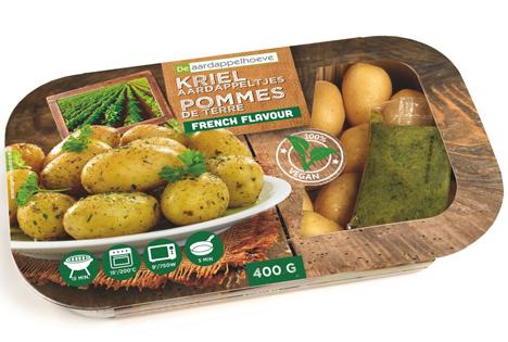 Die marinierten Kartoffeln werden im Ofen oder in der Mikrowelle zubereitet. Foto © De aardappelhoeve bvba