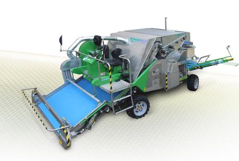 Ernten, sortieren und wiegen mit der Erntemaschine VENTUM von Hortech.