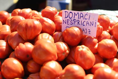 Partnerland Kroatien IGW 2020: Tomaten auf dem Dolac Markt in Zagreb. Foto © Messe Berlin GmbH