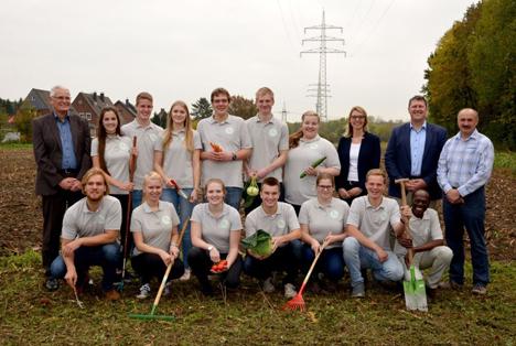 """Das Team von """"Junges Gemüse"""" startet durch. Foto © Agravis Raiffeisen AG"""