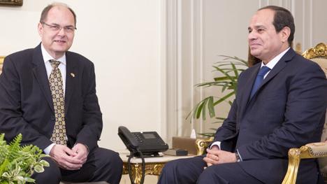 Bundeslandwirtschaftsminister Christian Schmidt und der äqyptische Staatspräsident Abdel Fattah al-Sisi. Foto © BMEL