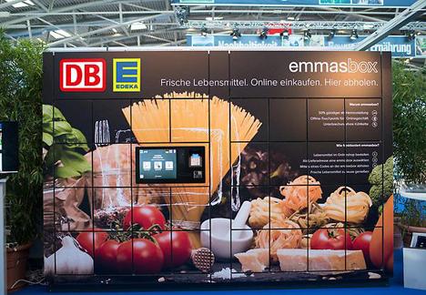 Die DB BahnhofsBox als Abholstation für Online-Einkäufe. Foto Deutsche Bahn AG