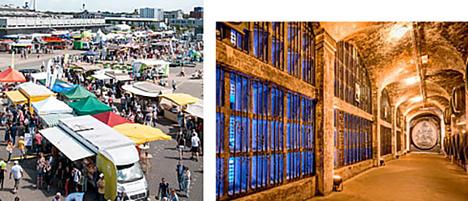 Foto © Großmarkt Bremen GmbH (links), Foto © Bremer Ratskeller